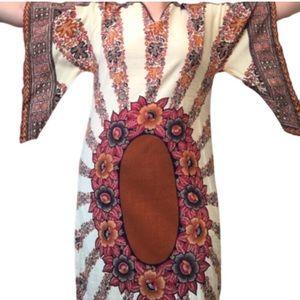 🥰 Host pick Plus size vintage batwing boho dress